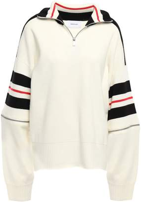Current/Elliott Color-block Wool-blend Sweater
