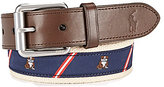 Polo Ralph Lauren Bulldog Striped Icon Belt