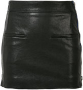 Haider Ackermann zipped laterals leather skirt