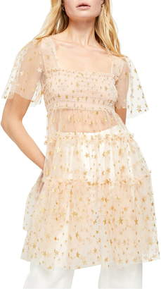 Free People Starbright Tulle Tunic