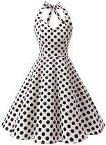 Dressystar Vintage 1950's Polka Dot Swing Party Picnic Dress Prom Cocktail Dress Royal Blue 3XL