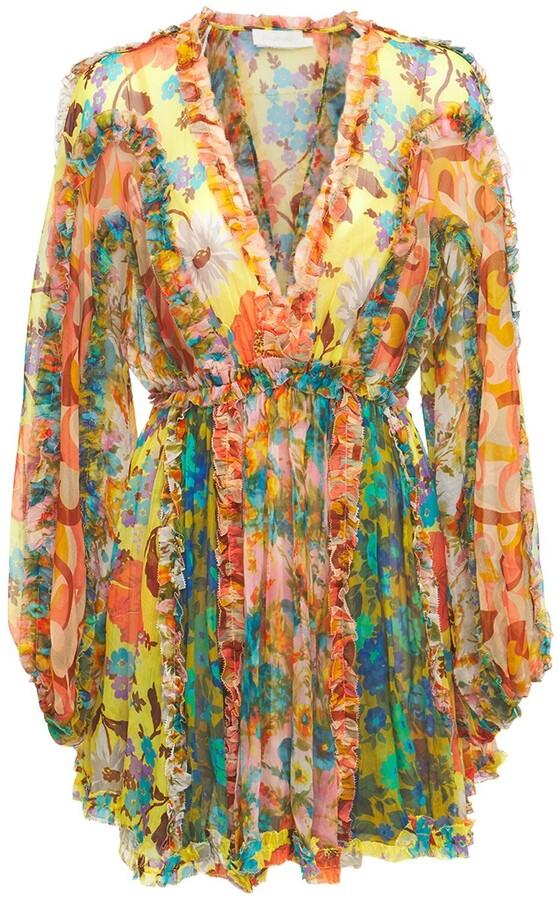 Zimmermann Estelle Silk Chiffon Mini Dress