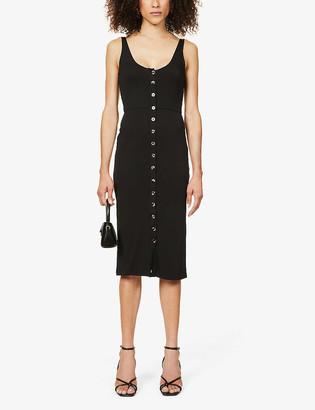 Good American Button-down stretch-jersey midi dress