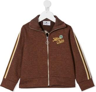Raspberry Plum Moon Child zipped sweatshirt