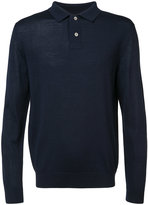 A.P.C. button collar jumper - men - Silk/Merino - S