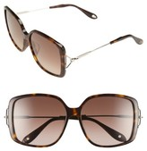 Givenchy Women's 58Mm Square Sunglasses - Dark Havana/ Brown