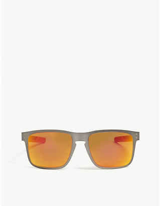 Oakley OO4123 Holbrook Metal square-frame sunglasses