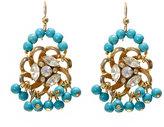 Dicha 1960's flower turquoise earrings