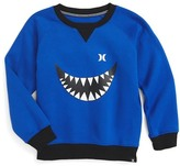 Hurley Monster Graphic Crew Neck Sweatshirt (Big Boys)