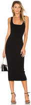 Autumn Cashmere Midi Square Neck Dress in Black. - size XS (also in )
