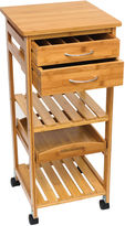 Lipper Bamboo Space Saving Cart