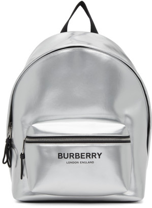 Burberry Silver Jett Backpack