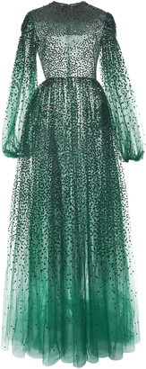 Valentino Sequin-Embroidered Tulle Gown