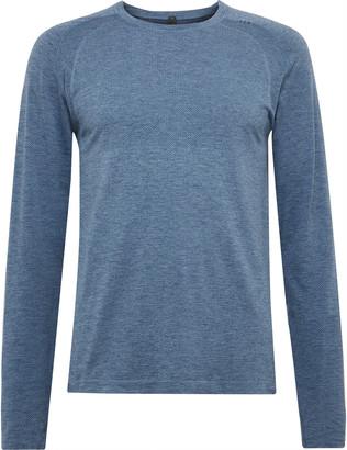 Lululemon Metal Vent Tech 2.0 Melange Stretch-Jersey T-Shirt - Men - Blue