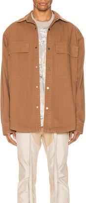 Fear Of God Canvas Shirt Jacket in Brick | FWRD