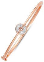 Frederic Sage Small Firenze Diamond Disc Bangle in 18K Pink Gold