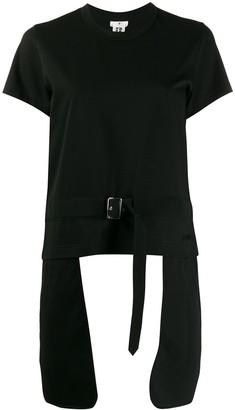 Comme des Garcons elongated-pocket belted T-shirt