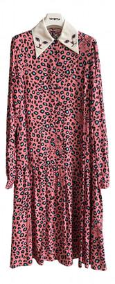 VIVETTA Pink Viscose Dresses