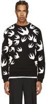McQ Black and White Swallows Clean Sweatshirt