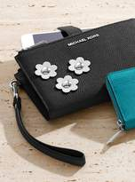 MICHAEL Michael Kors Adele Floral Applique Leather Smartphone Wristlet