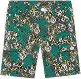 Kenzo Jungle Prints Shorts (Toddler/Kid) - Green - 3A
