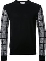 Wooyoungmi checked sleeve jumper - men - Acrylic/Polyester - 46