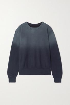 LES TIEN Ombre Cotton-jersey Sweatshirt - Navy