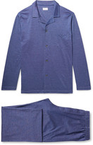 Derek Rose - Bari Cotton-jacquard Pyjama Set