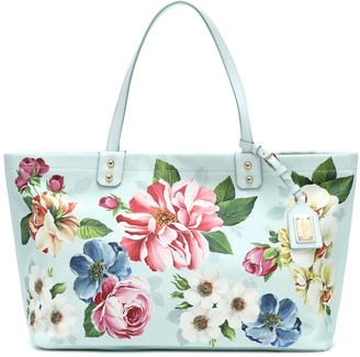 Dolce & Gabbana Kendra floral canvas shopper