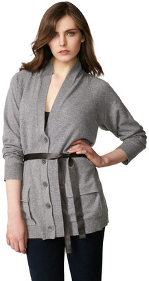Inhabit Cashmere Long Belted Cardigan