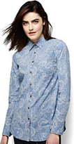Classic Women's Petite Chambray Easy Shirt-Faded Indigo Paisley