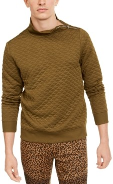 INC International Concepts Inc Men's Quilted Mock Neck Pullover, Created for Macy's