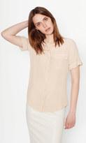 Equipment Short Sleeve Slim Signature Silk Shirt
