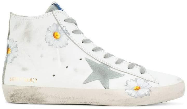 Golden Goose superstar daisy hi-top sneakers