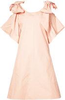 Chloé short bow dress - women - Cotton - 36