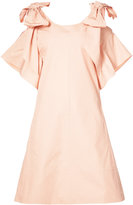 Chloé short bow dress - women - Cotton - 44