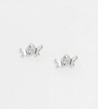 Kingsley Ryan Exclusive butterfly stud earrings in sterling silver