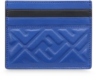 Fendi FF motif leather cardholder