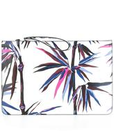 Emilio Pucci palm tree print clutch - women - Calf Leather/Polyester/Polyurethane - One Size