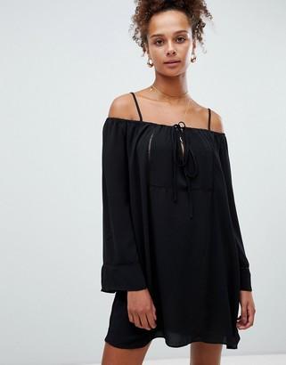 Glamorous cold shoulder dress-Black