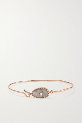 Pascale Monvoisin Orso N1 9-karat Rose Gold, Labradorite And Diamond Bracelet