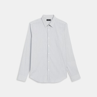 Theory Sylvain Shirt in Pinstripe Stretch Cotton