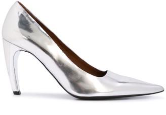 Proenza Schouler Metallic Effect Curved Heel Pumps