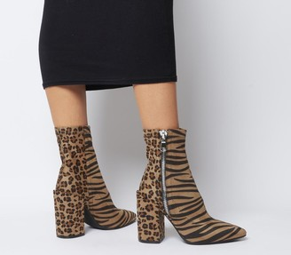 Ego Lucian Boots Mixed Animal Print