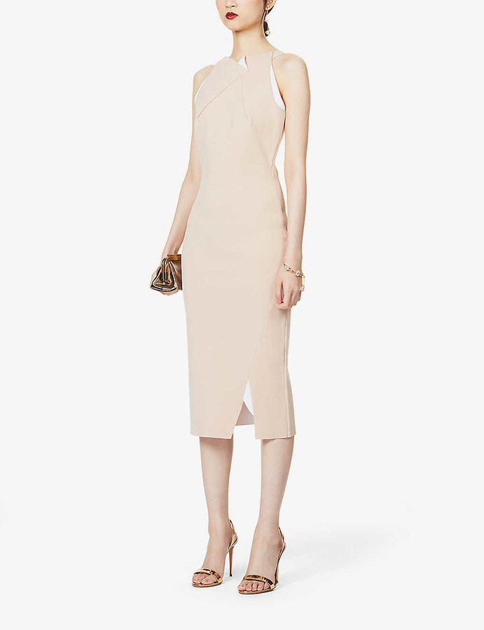 Roland Mouret Klint sleeveless stretch-crepe midi dress