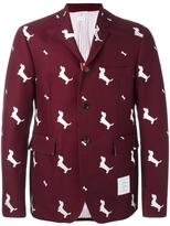 Thom Browne dog pattern blazer