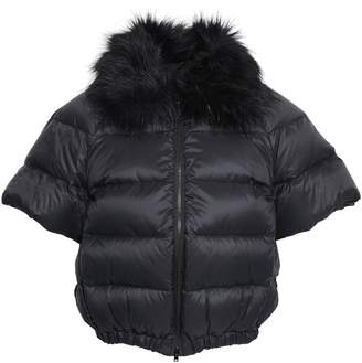 RED Valentino Faux Fur-trimmed Quilted Shell Down Coat