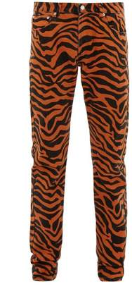 Noon Goons Tiger Print Cotton Jeans - Mens - Orange