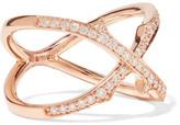 Stephen Webster Thorn Stem 18-karat Rose Gold Diamond Ring - 7