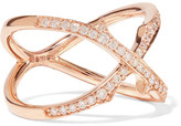 Stephen Webster Thorn Stem 18-karat Rose Gold Diamond Ring